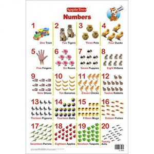Apple Tree Numbers Preschool Charts - 1 ( 13.5 Inch * 19.5 Inch) Wall Chart