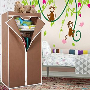 Unique Cartz Collapsible Single Door Foldable Wardrobe Almirah Cupboard Diy