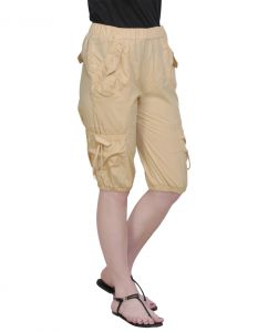 The Runner Cream Cotton Capri Cp-002