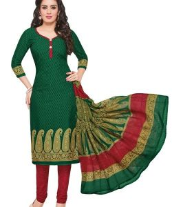 Radiant Cotton Printed Salwar Suit Dress Material With Cotton Dupatta (code-am1407)