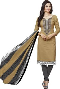 Multicolor Printed Crepe Unstitched Salwar With Chiffon Dupatta (code-am2124)
