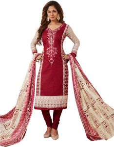 Elegant Karachi Cotton Designer Printed Un-stitched Dress Material Salwar Suit (code-bc6004)