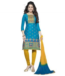 Elegantcotton Unstitched Dress Material With Chiffon Dupatta (code-vp5176)