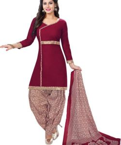 Elegant Cotton Patiyala Unstitched Dress Material Salwar Suit (code-bal703)