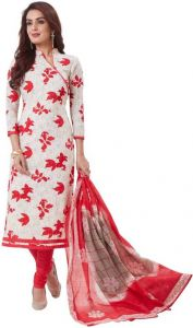 Elegant Cotton Designer Printed Dress Material Salwar Suit With Cotton Dupatta (code-bz3051)