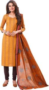 Elegant Cotton Designer Printed Dress Material Salwar Suit With Cotton Dupatta (code-bz3052)