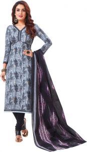 Elegant Cotton Designer Printed Dress Material Salwar Suit With Cotton Dupatta (code-bz3056)