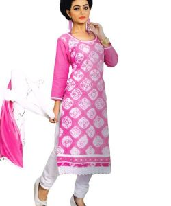 Radiant Cotton Embroidered Salwar Suit Dress Material With Chiffon Dupatta (code-nk1093)