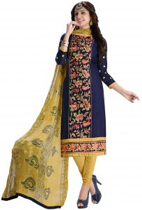 Radiant Cotton Embroidered Salwar Suit Dress Material With Chiffon Dupatta (code-nkt1218)