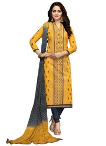 Radiant Cotton Embroidered Salwar Suit Dress Material With Chiffon Dupatta (code-nkt1226)