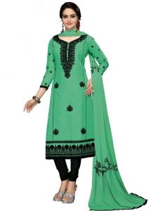 Radiant Cotton Embroidered Salwar Suit Dress Material With Chiffon Dupatta (code-nkt1227)