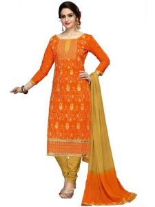 Radiant Cotton Embroidered Salwar Suit Dress Material With Chiffon Dupatta (code-nkt1228)