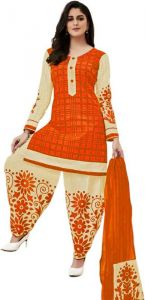 Elegant Cotton Patiyala Unstitched Dress Material Salwar Suit With Cotton Dupatta (code-pp911-b)