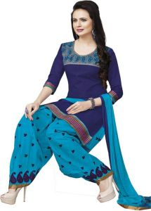 Elegant Cotton Embroidered Salwar Suit Dupatta With Chiffon Dupatta Material (code-rp4001)
