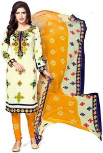 Multicolor Printed Crepe Unstitched Salwar With Chiffon Dupatta (code-sv1430)