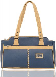 Right Choice Blue And Tan Color Handbag