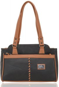 Right Choice Black And Brown Color Handbag