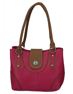 Right Choice Pink And Tan Handbag