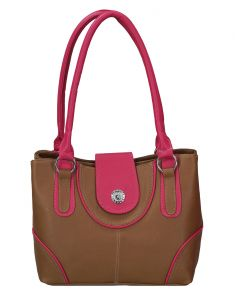 Right Choice Designer Tan And Pink Color Handbag