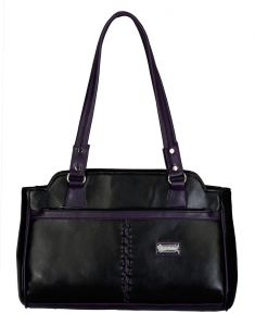 Right Choice Balck And Purple Color Handbag