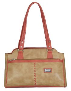 Right Choice Tan And Orange Color Handbag