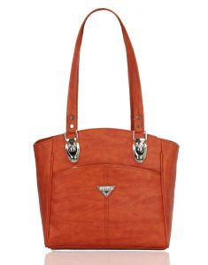 Right Choice Designer Orange Color Handbag