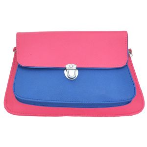 Right Choice Blue And Pink Color Sling Bag