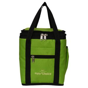Office Bags - Right Choice Green color Lunch Bag with Water Bottle Pouch
