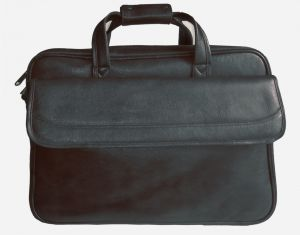 Right Choice Genuine Leather Black Color Laptop Messenger Bag