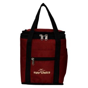 Office Bags - Right Choice Red color Lunch Bag with water bottle pouch