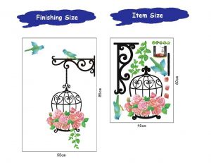 Wall stickers & decals - Flower Hanging Basket  Wall Sticker (45 cm X 60 cm)