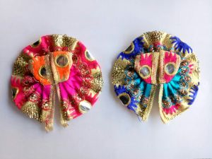 Colorfull Bal Gopal Dress/poshak Kanch Work - 2 PCs