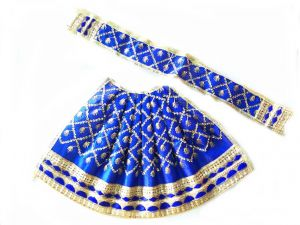 Designer Poshak With Heavy Lace Border/ Heavy Poshak For Laxmi Mata (6 No)