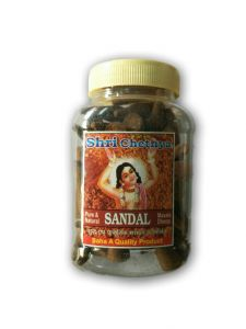 Shri Chetnya Sandal Dhoop Cone Jar / Chandan Dhoop Batti - 2 PCs