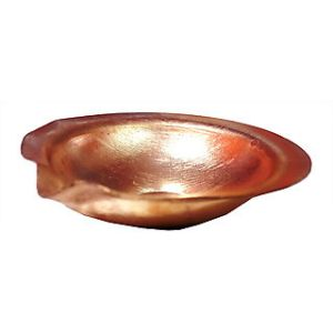 Pure Copper Diya / Copper Deepak For Pooja / Designer Diya - 2 PCs