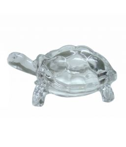 Crystal Clear Glass Tortoise Kachua/fengshui Kachua For Happiness