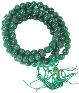 Green Hakik Mala Natural Green Hakik Agate Mala