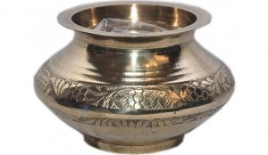 Pure Brass Kalash For Pooja / Jal Arpan Pooja Lota