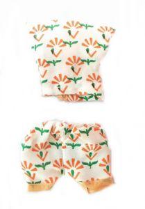 Beautiful Night Suit For Kanha Ji / Printed Flower Print Night Dress For Bal Gopal