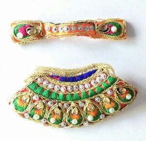 Thread And Kundan Work Lehanga For Mataji / Designer Devi Lehanga