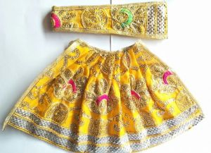 Beautiful Lace Border Lehanga With Heavy Work For Mataji / Devi Lehanga