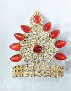 Designer Diamond And Stone Work Mukut For Laddu Gopal / Mukut For Thakurji