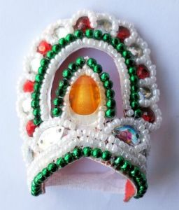 Beautiful Moti And Stone Work Mukut For Laddu Gopal / Mukut For Thakurji - 2 PCs