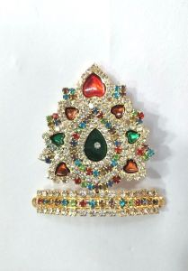 Diamond And Stone Work Mukut For Bal Gopal / Mukut For Laddu Gopal