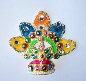 Colourful Leaf Mukut For Thakurji Shringar / Mukut For Bal Gopal / Mukut For Laddu Gopal