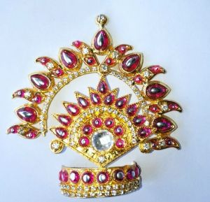 Mukut Shringar For Thakurji / Designer Mukut For Bal Gopal / Mukut For Ganeshji