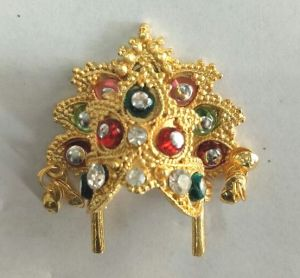 Mukut For Thakurji / Colourful Diamond Work Mukut For Laddu Gopal