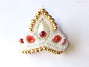 Moti Work Mukut For Laddu Gopal / Mukut For Thakurji / Designer Mukut