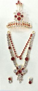 Diamond Stone Work Jewellery Set For God / Laddu Gopal Shringar Set
