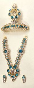 Designer Diamond Stone Work Jewellery Set For God / Laddu Gopal Shringar Set